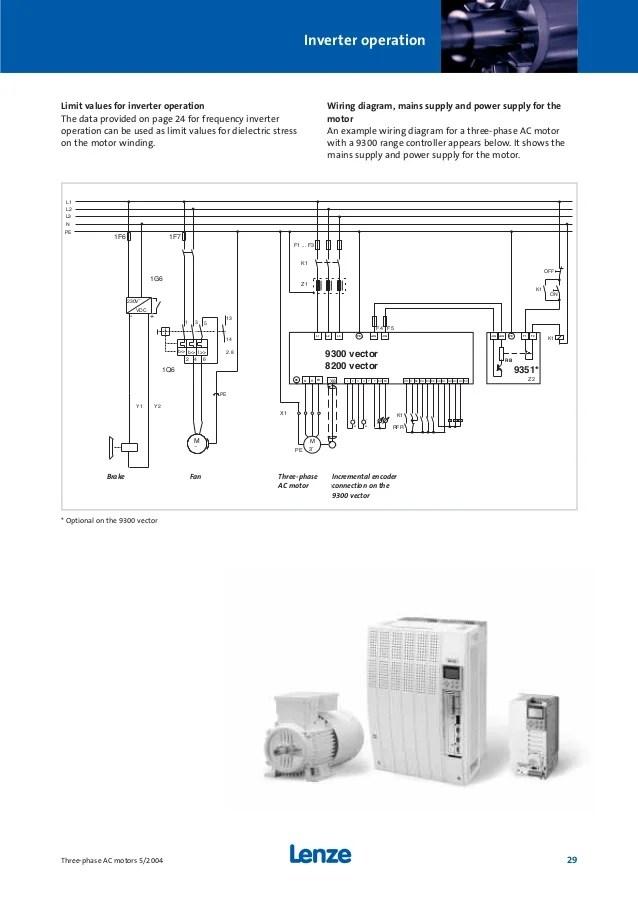 Ac Schematic Wiring Schematic Ac двигатели Lenze
