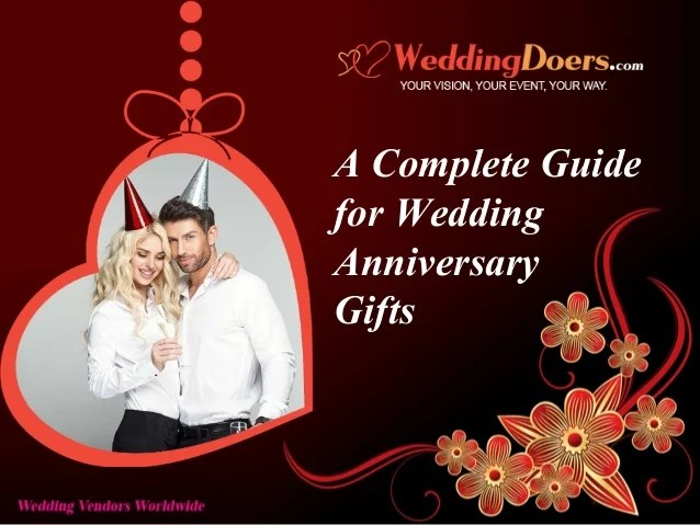 A Complete Guide For Wedding Anniversary Gifts