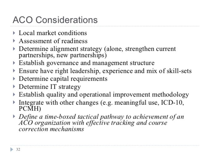 Accountable Care Organization Aco Tutorial