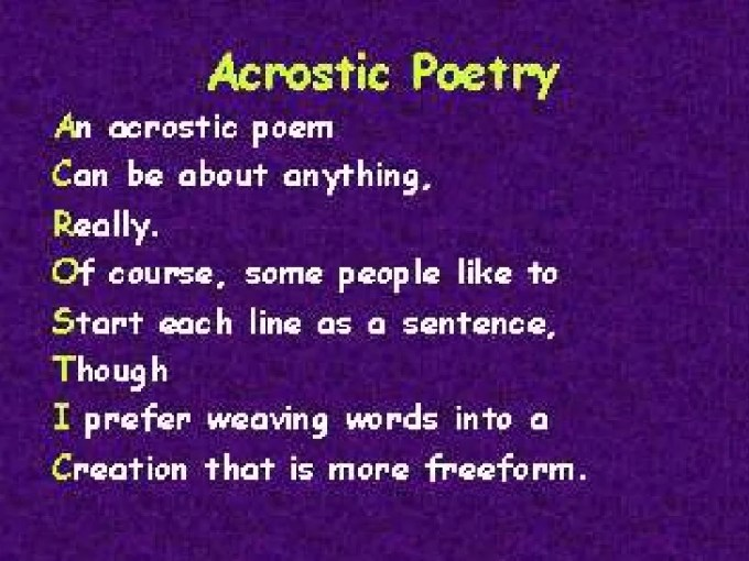 Acrostic Poems Examples Image Collections Example Cover Letter For