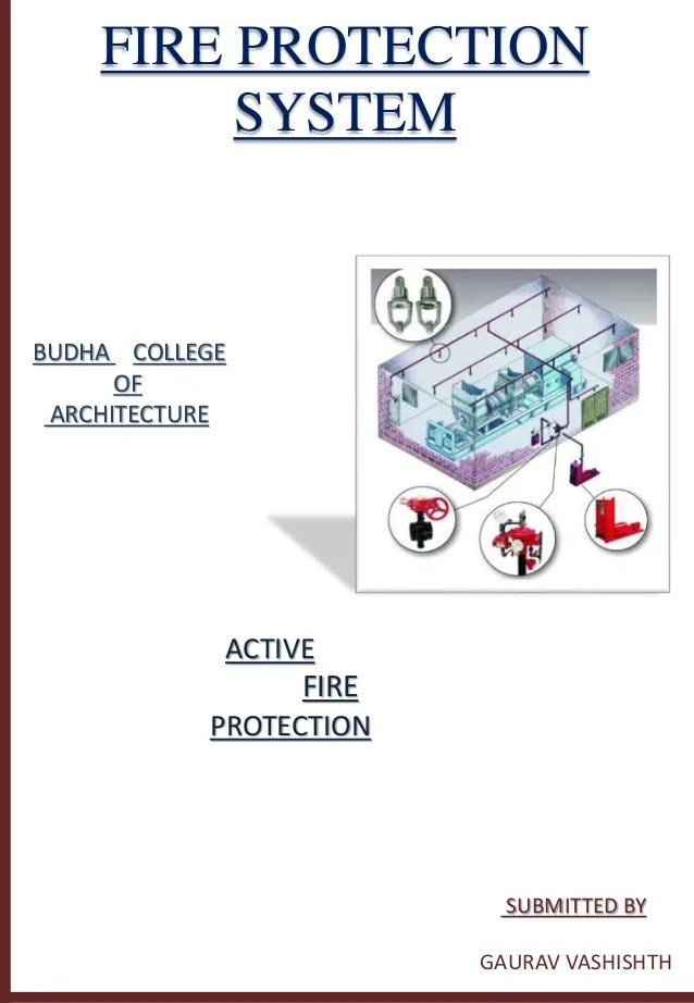 Active fire protection system