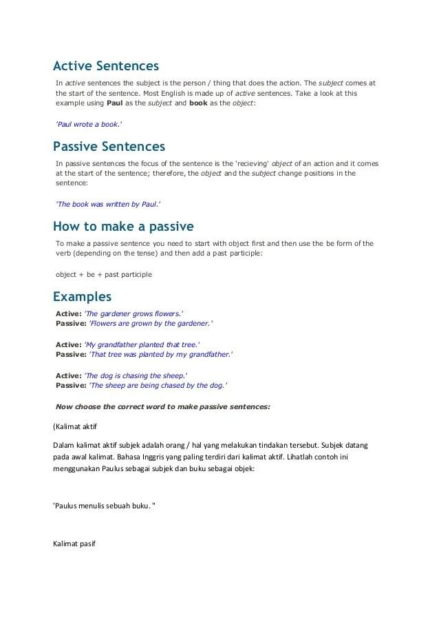 10 Kalimat Simple Present Tense Aktif Dan Pasif : kalimat, simple, present, tense, aktif, pasif, Active, Sentences