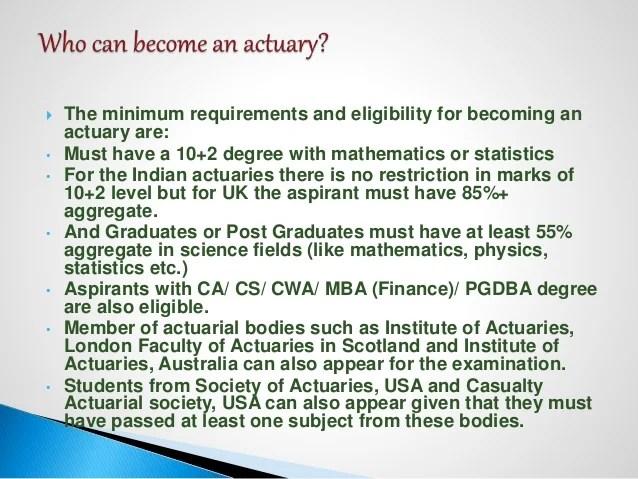 Actuarial science seminar COMPLETE INFORMATION INDIAN IAI