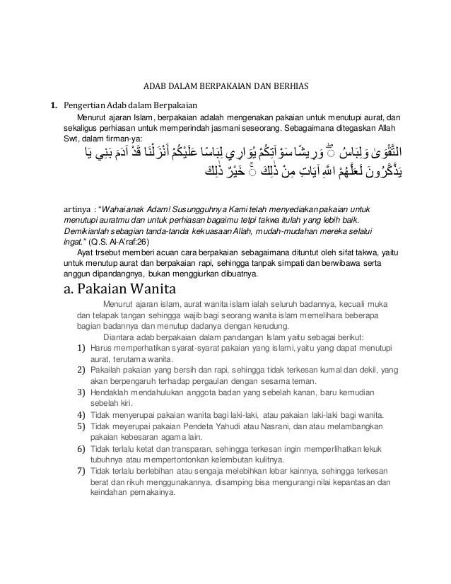 Fungsi Pakaian Menurut Syariat Islam : fungsi, pakaian, menurut, syariat, islam, Dalam, Berpakaian, Berhias