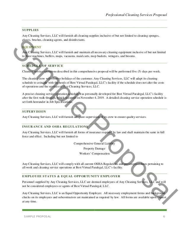 Cleaning Proposal Letter Design Templates