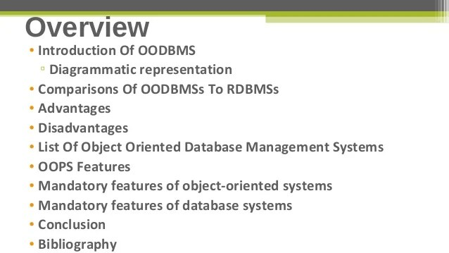 Advance Database Management Systems Object Oriented