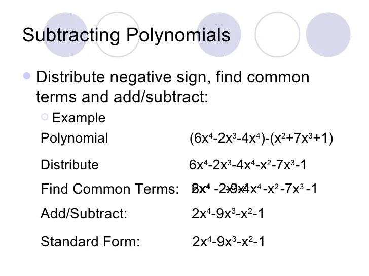 Adding Subtracting Polynomials Worksheet Gina Wilson 2012