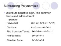 Adding Subtracting Polynomials Worksheet Gina Wilson 2012