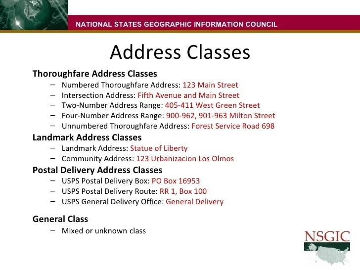 Address Standard
