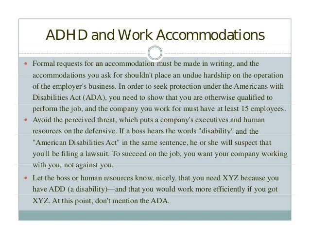 ADHD and the Workplace