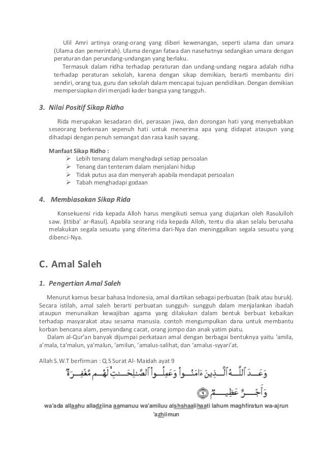 Pengertian Amal Sholeh : pengertian, sholeh, Adil,, Ridho,, Saleh
