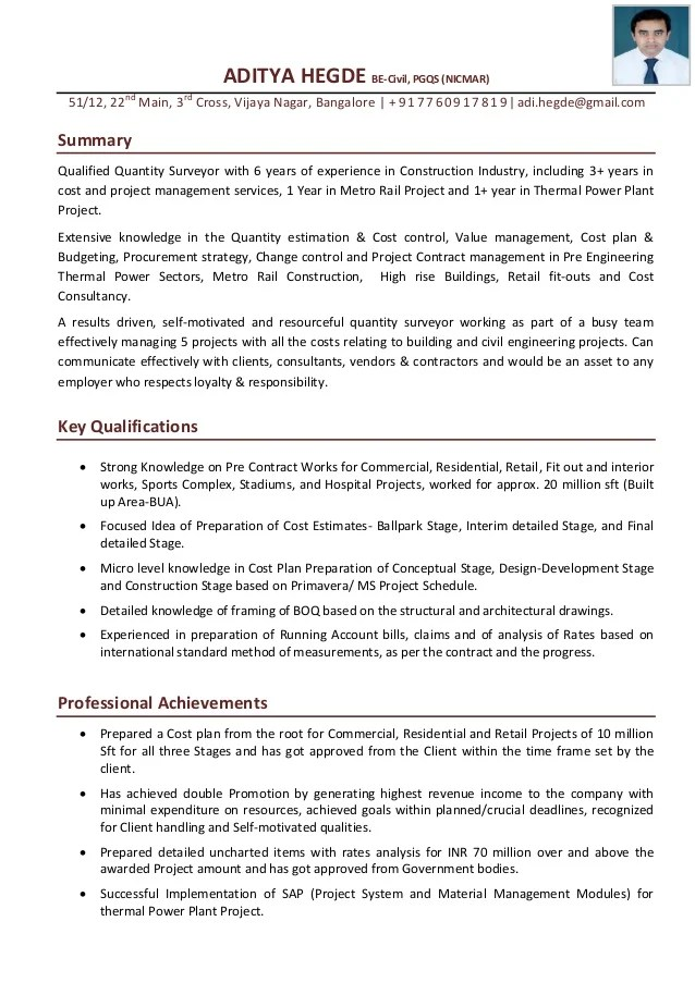 Aditya Hegde QS Cover Letter With Resume
