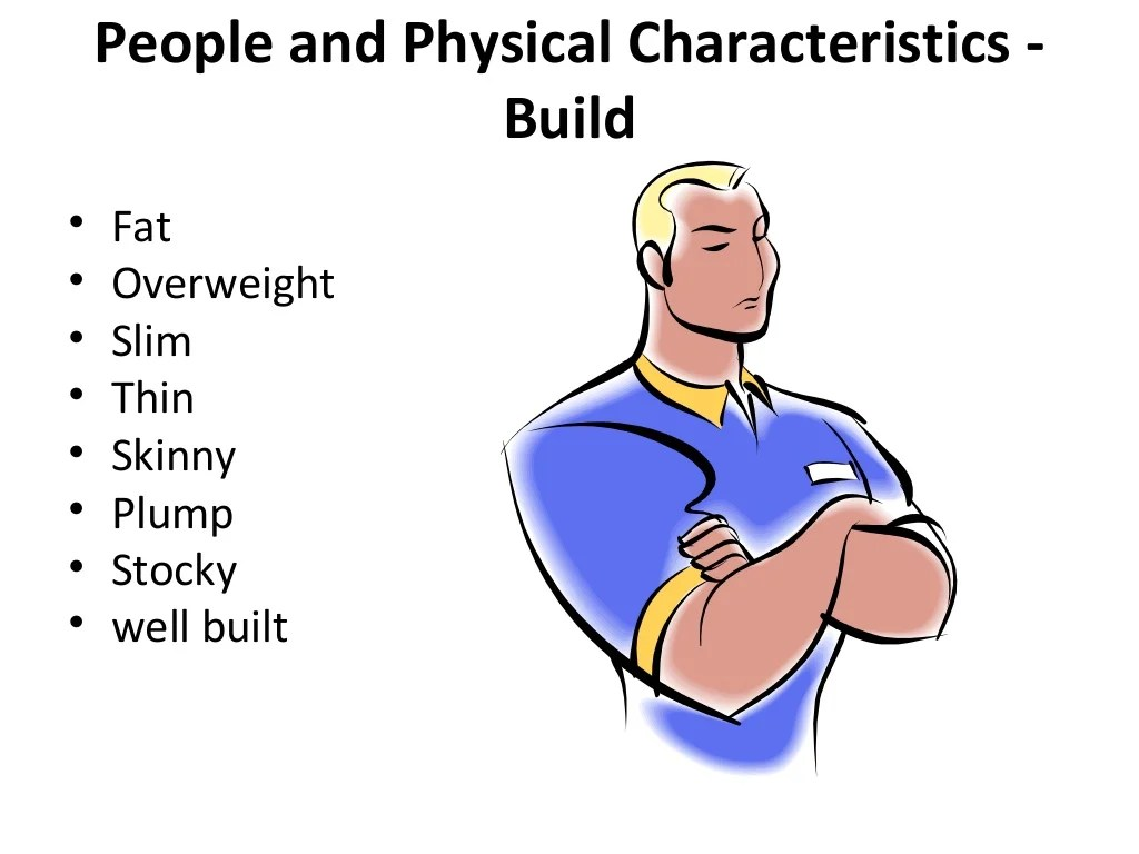 Adjectives To Describe Physical Appearance Ppt