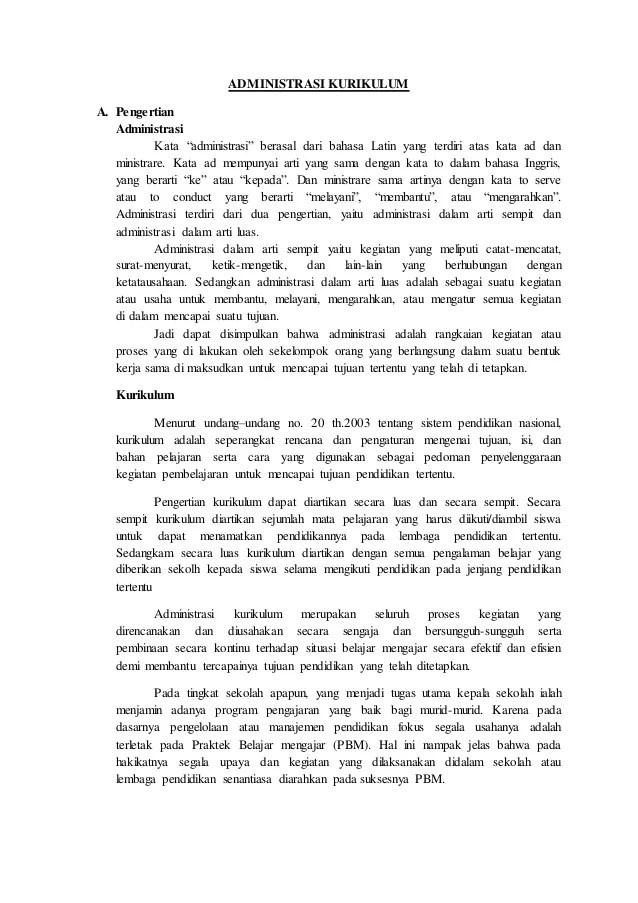 Administrasi Berasal Dari Bahasa : administrasi, berasal, bahasa, Administrasi, Kurikulum