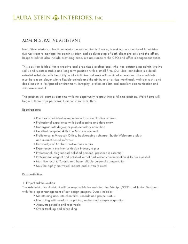 jobs postings caribbean executive assistant jobs postings - Interior Design Assistant Jobs
