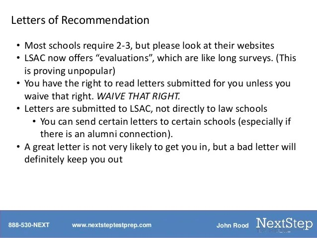 letter of recommendation lsac