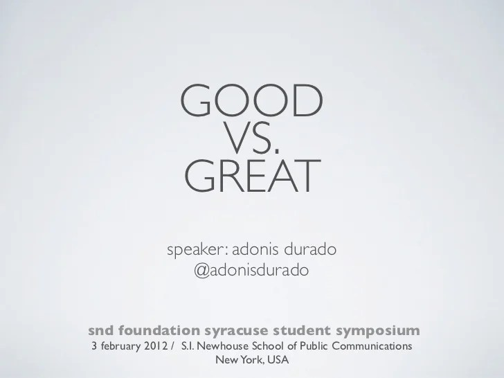 adonis durado good vs