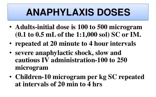 Anaphylaxis also adrenaline  noradrenaline rh slideshare