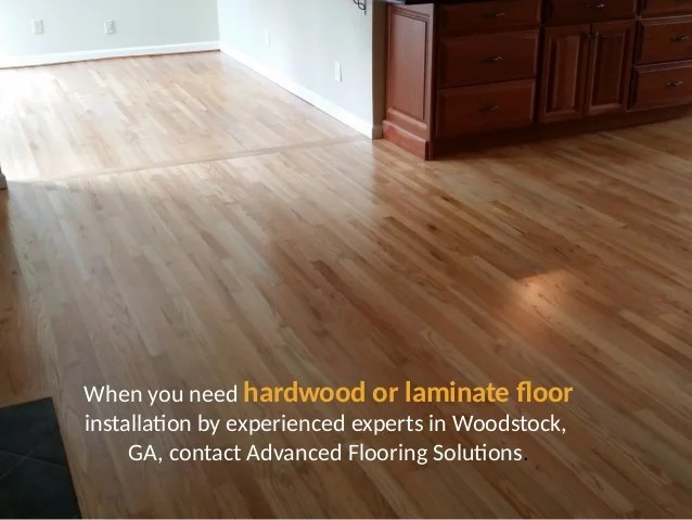 Hardwood or Laminate Floor Installation  Advanced
