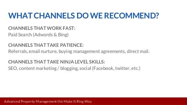 Advanced Property Management Marketing - The Make It Ring Way