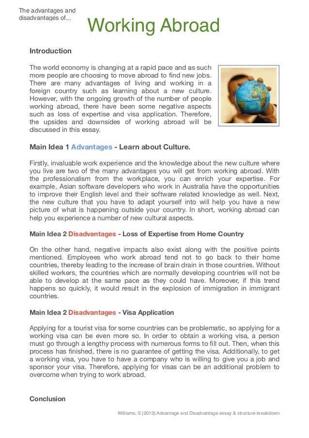 Living Abroad Essay Why Study Abroad Essay Examples University Essay