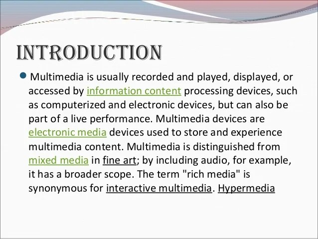 Advantages And Disadvantages Of Multimedia