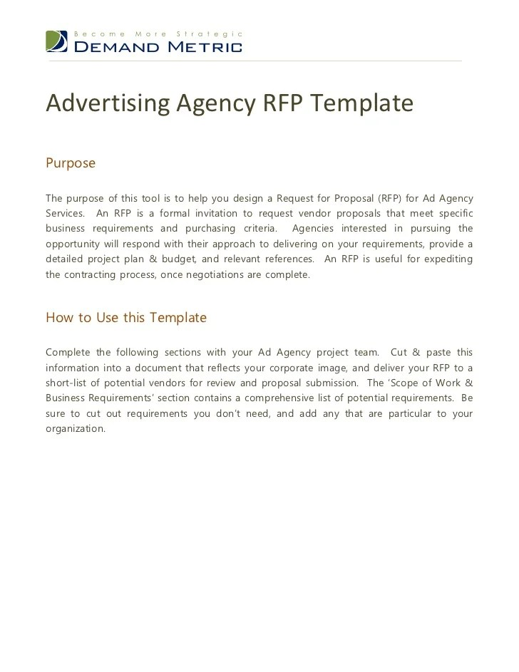 Advertising Agency Proposal Examples Advertising Proposal Template