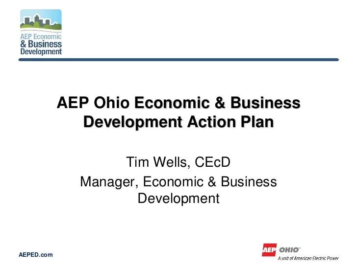 aep ohio economic development action plan