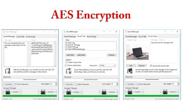Aes encryption www.secretmessages.online