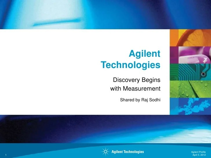 Agilent Technologies Corporate Overview