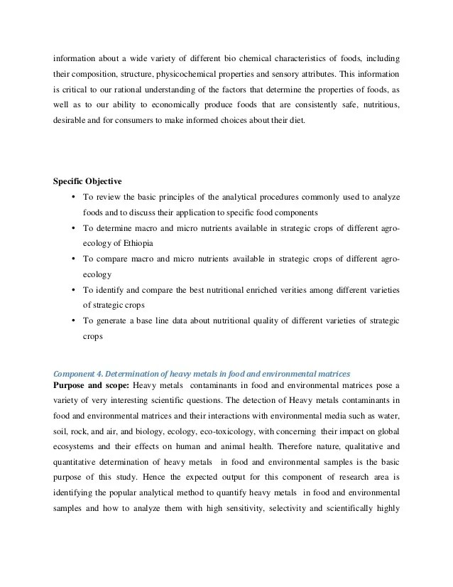 Thematic Area Agricultural Chemistry Research