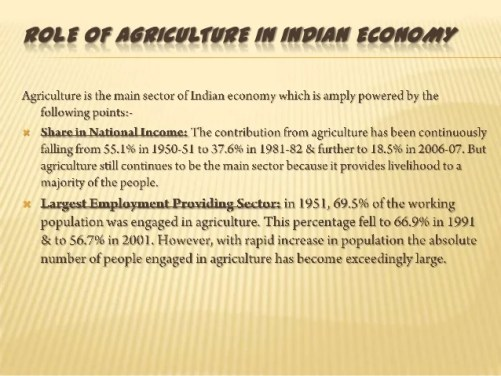 Image result for impact of agriculture on national economy