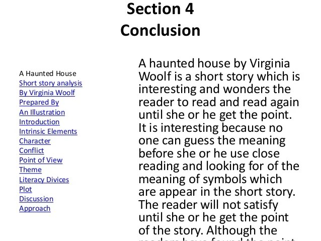 A Haunted House Analysis Virginia Woolf