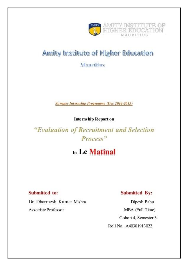 Finance Internship Report Sample | Sample Of Engineering Contract