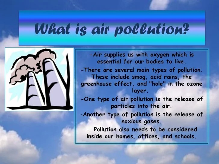 What Are Different Types Air Pollution