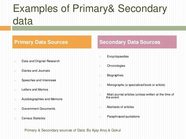 Types Of Secondary Data In Research Research Paper Writing Service