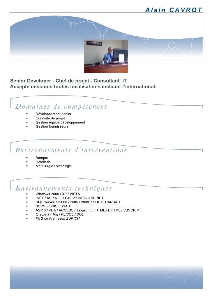 cv telecharger chef de projet informatique doc