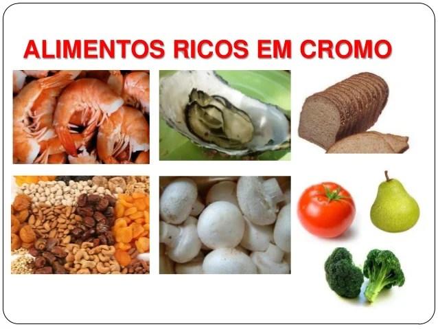 Alimentos ricos em cromo