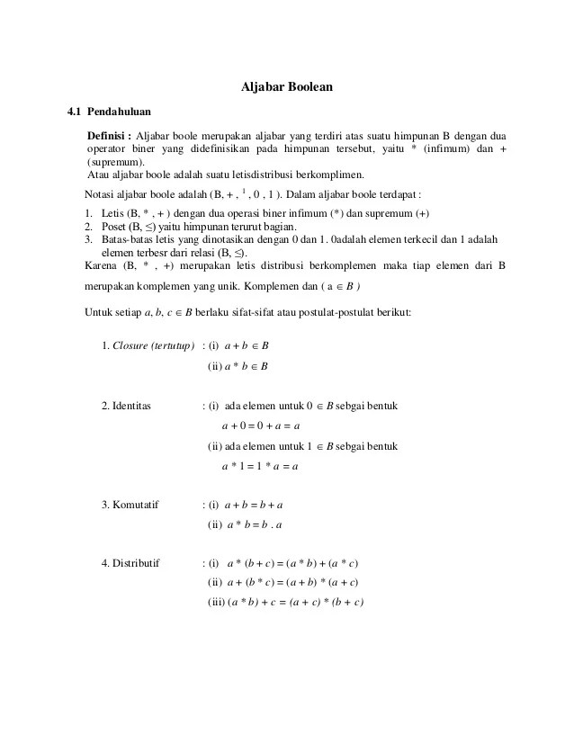 Aljabar Boolean Ppt : aljabar, boolean, Aljabar, Boolean, Matematika, Diskrit