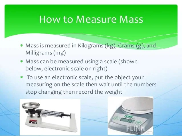 All about mass and volume