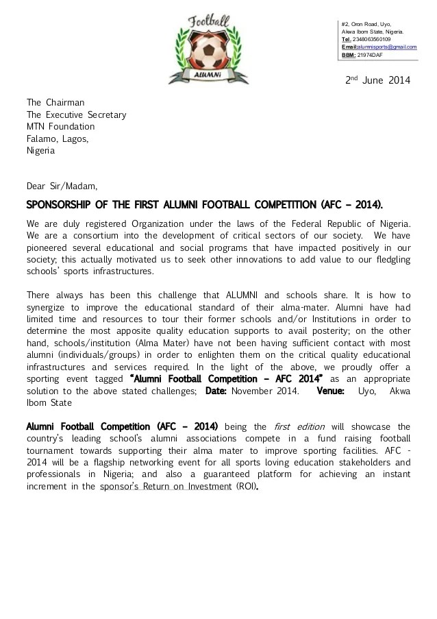 Alumni Football Competition AFC 2014 Registration