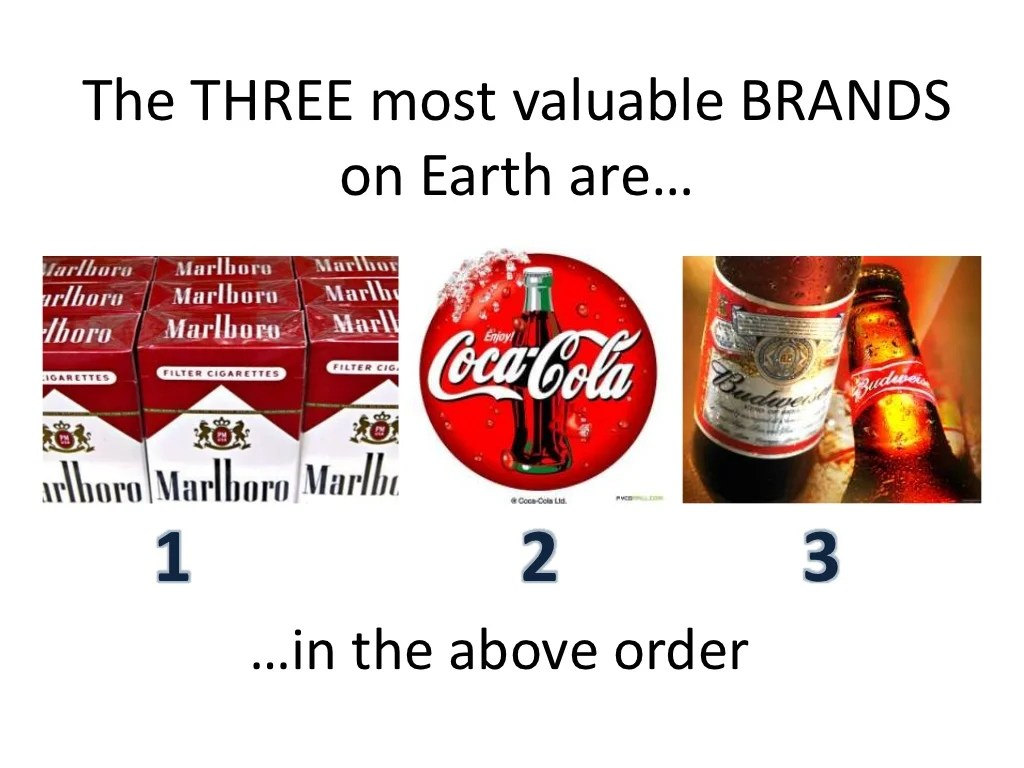 The Three Most Valuable Brands