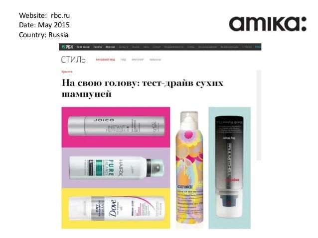 Парикмахерский бренд Amika в прессе май 2016
