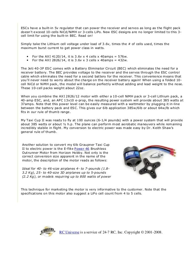 rc plane motor size chart | Wordcars co