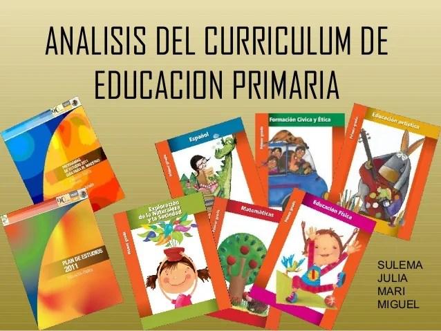 Analisis Del Curriculum De Educacion Primaria
