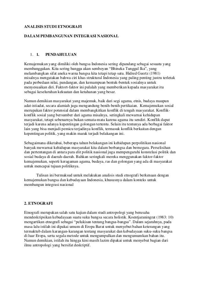 Contoh Penelitian Etnografi : contoh, penelitian, etnografi, Analisis, Studi, Etnografi