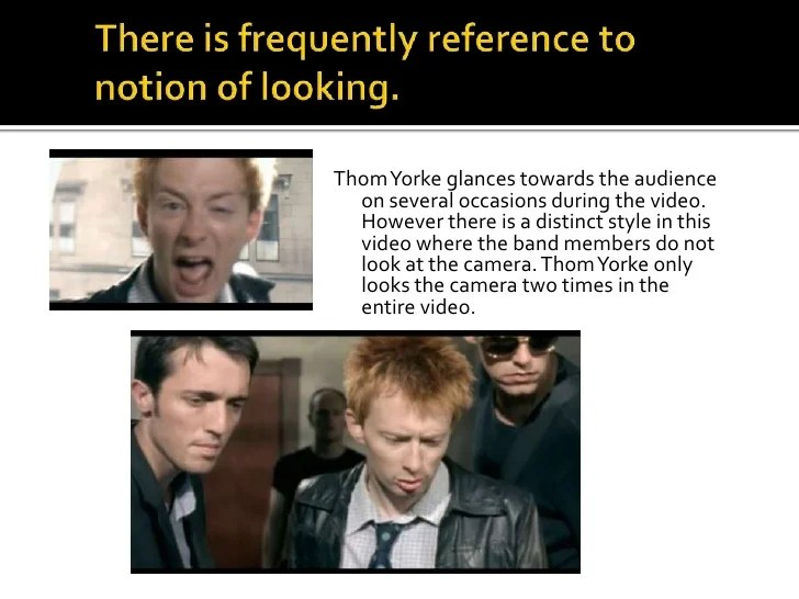 Radiohead Just Music Video Analysis