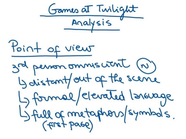 Analysis Of Games At Twilight