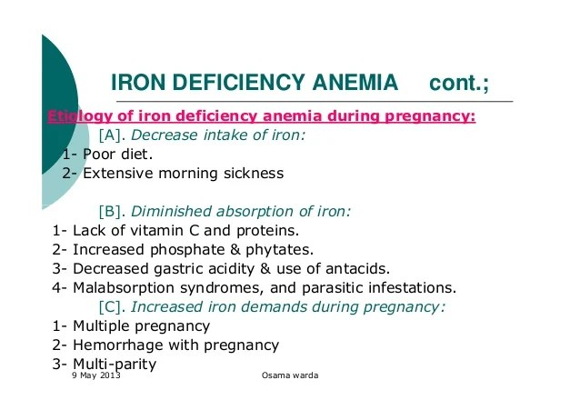 Anemias during pregnancy warda [compatibility mode]