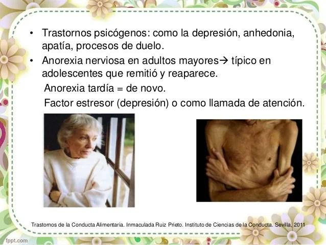 Anorexia e Hiporexia en el Adulto Mayor.